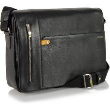 Мужская деловая сумка из натуральной кожи Acciaio Touch 2312N