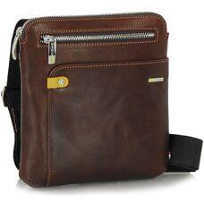 Мужская сумка через плечо из натуральной кожи Adpel Prestige 5113C